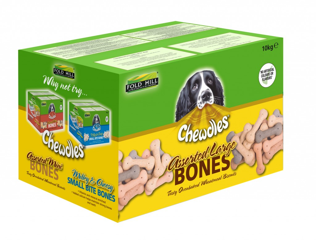 Chewdles assorted large bones packaging