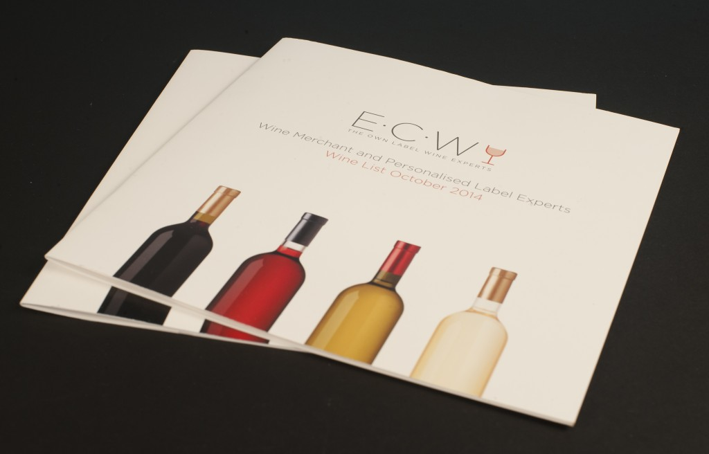 Front cover of East Coast Wines brochure