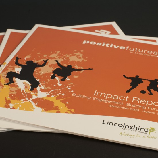 Front cover of Positive Futures Impact Report for Lincolnshire County Council