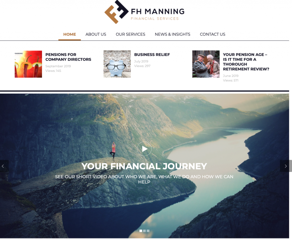 Home Page of FH Manning website