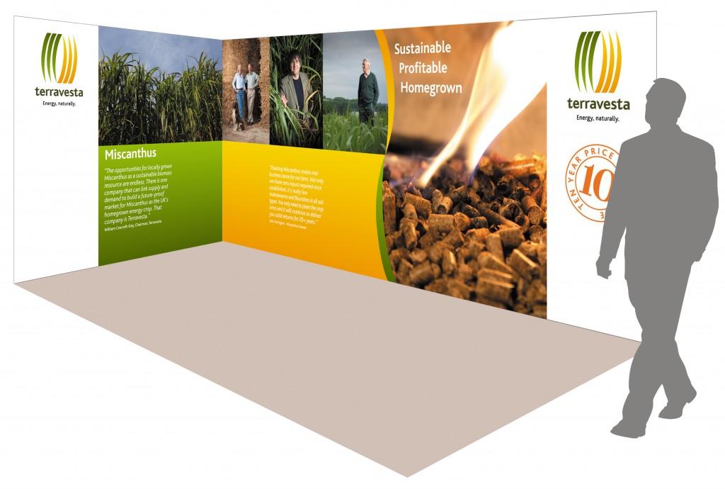 Exhibition display for Terravesta