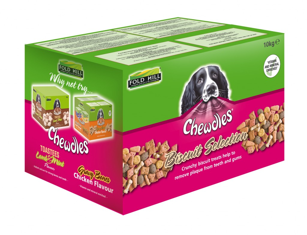 Chewdles Dog biscuit selection packaging