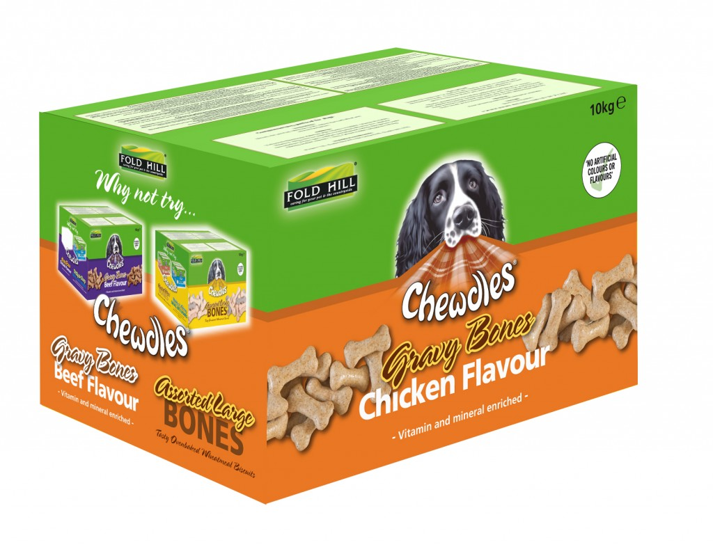Chewdles Gravy bone biscuit packaging